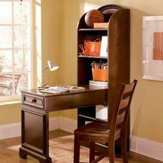 Bookcase Desk Kitchen Counter Idea