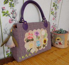 紫色花园手提包