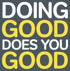 doing good does you good