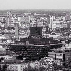 Slovak Radio building, Bratislava, Slovakia, built between 1967-1983, Architect: Štefan Svetko, Štefan Ďurkovič, Barnabáš Kissling. (c) BACU #socialistmodernism #socheritage
