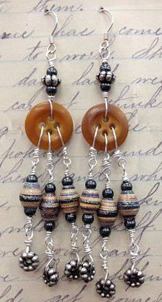 Love the idea of using buttons and adding dangles!