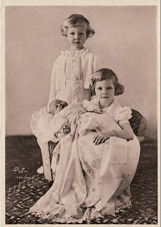 The children of Crown Prince Umberto and Crown Princess Marie Jose of Italy
