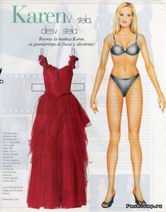 Karen SPANISH Vistela y desvistela ENGLISH Dresses and undresses <> from RUSSIAN  бумажная кукла / ENGLISH  Paper Doll 1 of 2