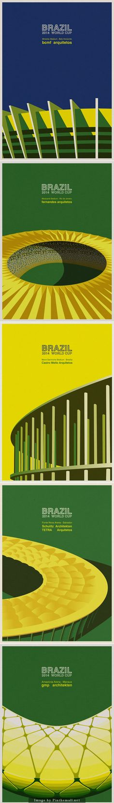 Brazil 2014 World Cup Stadiums by André Chiote+