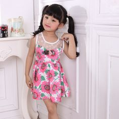 Cheap girl clothing, Buy Quality girl infant clothing directly from China girls 2t clothing Suppliers: 2015  girls Clothes age 1, 2, 3, 4 5 6 7 years old children100% cotton yarn grid cloth shoulder-straps princess summer