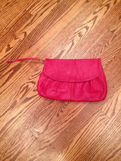 Vintage Red Italian Leather Clutch Handbag with by ItsallforHim