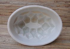 Antique White English Ironstone Pudding Mold by RedoneAndVintage