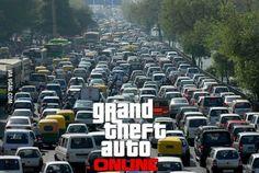 """How I imagine the Servers of GTA online.."""