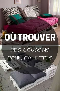 Coussin Palette : Guide d'Achat 2019 (+ Bons Plans) - Home ideas and Palette Couch, Banquette Palette, Palette Furniture, Pallet Furniture Cushions, Outdoor Furniture, America Furniture, Apartment Furniture, Furniture Movers, Furniture Stores