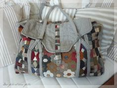 Disregard the patchwork on this bag it is the construction of this bag that I think is interesting!!