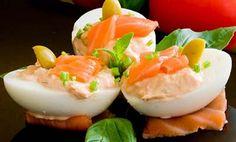 Succulente recette de Oeufs durs farcis au saumon fumé