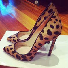 leopard 'Gilda' pumps by Lauren Marinis