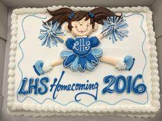 Cheerleader cake 1/2 sheet