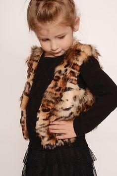 Too sweet! Vest pattern Fur Vest PDF Sewing Pattern featuring our Faux Fur print  Hi Low Leopard Fur Gold/Black http://www.shannonfabrics.com/faux-fur/prints/hi-low-leopard-fur-gold-black  photo by @portraitsbyBrianne