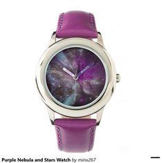 Purple Nebula and Stars Watch