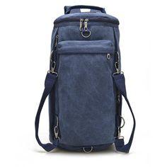 Men Women Canvas Multifunctional Big Travel Outdoor Portable Shoulders Crossbody - US$43.99