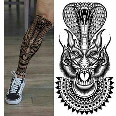 Name Tattoos, Leg Tattoos, Tattoos For Guys, Cool Tattoos, Dragon Tattoo Art, Dragon Tattoo Designs, Wolf Tattoo Forearm, Arm Band Tattoo, Samurai Mask Tattoo