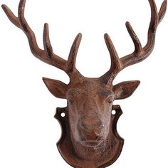 Deer Head Wall Art for blank wall that use to be a loft! Black Butte getting overhaul.