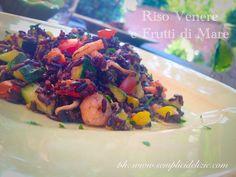 Riso Venere e Frutti di Mare - Semplici Delizie