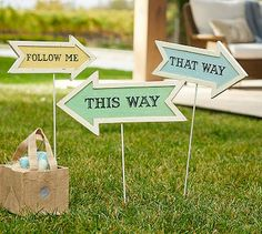 Easter Signs from Pottery Barn