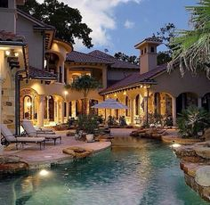 Pool and huge house