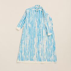 The Draughtsman Dress in toothpaste stripe water by Toogood