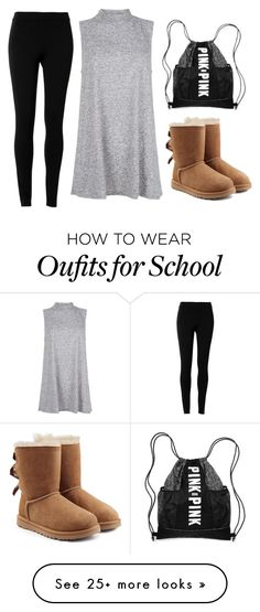 """""""Last Day of School"""" by alia-m-abbasi on Polyvore featuring Max Studio, UGG Australia, school, LazyDay, nomakeup, Lastday and NoCare"""