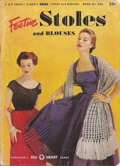 1952 Festive Stoles and Blouses Crochet and by betrunkepenguin, $7.00