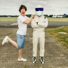 Cumberbatch and The Stig <3