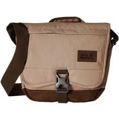 Jack Wolfskin Warwick Ave (Gravel) Backpack Bags ($40) ❤ liked on Polyvore featuring bags, backpacks, messenger bag backpack, brown leather backpack, brown messenger bag, crossbody messenger bag and brown leather messenger bag