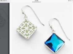 The Marina Reversible Earrings have crystal bermuda blue crystal with rhodium plating.