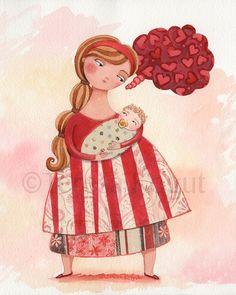 """Baby Love"" Whimsy Chick by Teresa Kogut"