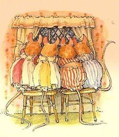 1980 Jill Barklem (British writer/illustrator, 1951) ~ Brambly Hedge series