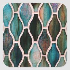Turquoise Tile, Turquoise Kitchen, Teal Kitchen, Kitchen Colors, Kitchen Ideas, Stick Tile Backsplash, Stick On Tiles, Kitchen Backsplash, Peel And Stick Tile