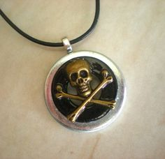 Pirate Necklace Men's Jewelry  Men's by MaddDoggofTomorrow on Etsy, 25.00