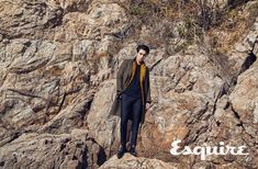 Lee Dong Wook did a pictorial and interview for the December issue of Esquire and even though the pics aren't close-up – we think he looks dreamy! Hotel King, Daniel Henney, Lee Dong Wook, King Kong, Esquire, Best Actor, K Idols, Korean Actors, Singer