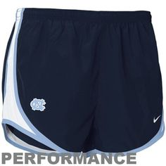 Nike North Carolina Tar Heels (UNC) Ladies Navy Blue NikeFIT Tempo Performance Training Shorts