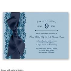 Paris Lace - Malibu - Invitation