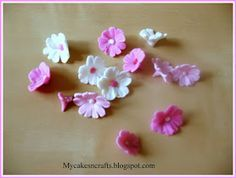 A very easy cherry blossom flower tutorial for a beginner level in gum paste or fondant decorations