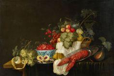 Flämischer Meister, Prunkstillleben mit Früchten und einem Hummer,