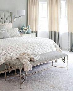 Color block linen curtain panels rod pocket flat panels | Etsy Bedroom Colors, Home Decor Bedroom, Bedroom Furniture, Master Bedroom, Bedroom Ideas, White Bedroom, Master Suite, Bedroom Brown, Furniture Sets