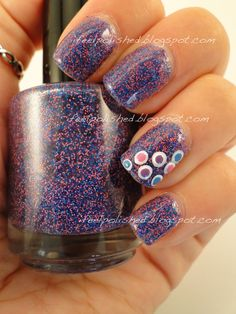 Double dots over glitter