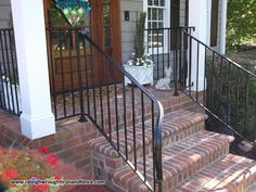 This would be perfect. Custom Wrought Iron Residential Railings Raleigh Wrought Iron Co.