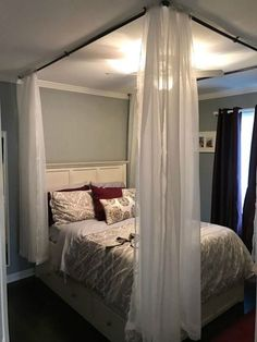 Wonderful DIY Canopy Bed Tutorial! Check It Out At:  Http://www.takeitfrom Me.com/2013/07/sawdust2stiches Diy Canopy Bed Tutorial.html?mu003d1  | Studio 18 | Pinterest ...