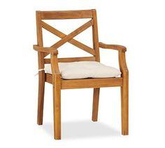 $219Hampstead Teak Dining Chair - Honey #potterybarn