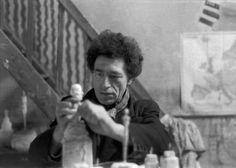 Alberto Giacometti - Artist XXè - Sculpture - In his studio.