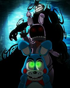 Toy Bonnie and his two bully sidekicks