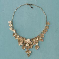 """Hydrangea Petal Necklace"