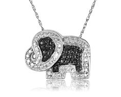 8/27/2012 Visit the Zoo Collection  $9.99  + FREE SHIPPING Black Diamond Accent Sterling Silver Elephant Pendant