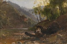 View of a Wooded River (Franz Ludwig Catel) Museum, River, Painting, Art, Kunst, Art Background, Painting Art, Paintings, Performing Arts